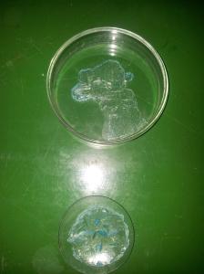 Sulfato de cobre con acetona